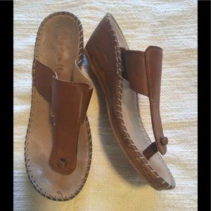 Mariella Leather Sandals Made in Albania. Size 6